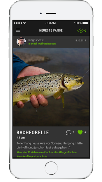 App für Angler - iPhone preview