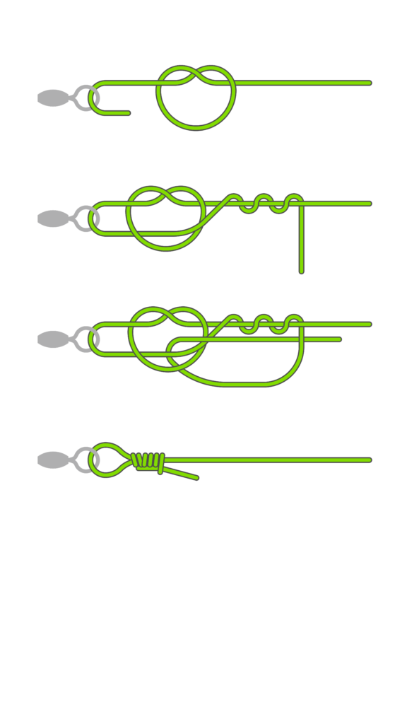 Rapala-Knoten & Non-Slip Knoten