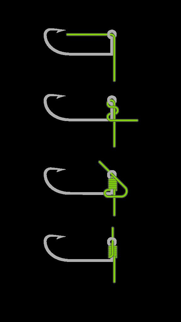 No-Knot Dropshot Rig Montage mit Jighaken